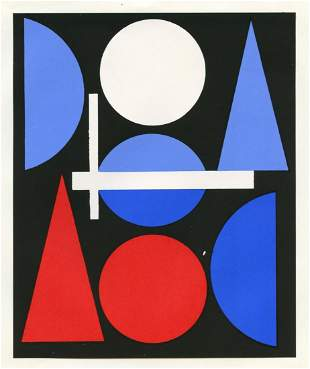 "Auguste Herbin serigraph ""Nue"""