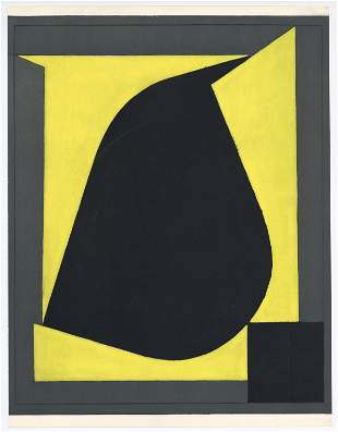 "Victor Vasarely pochoir ""Pamir"" (1958)"