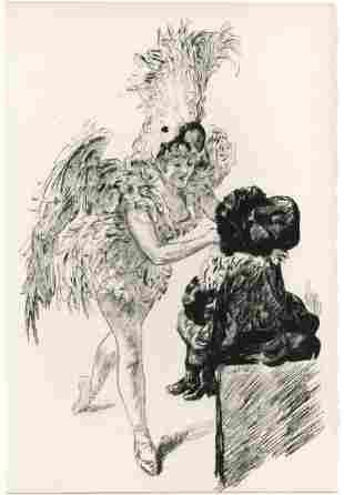 """Paul Renouard original etching """"A Drury Lane: Avant de"""