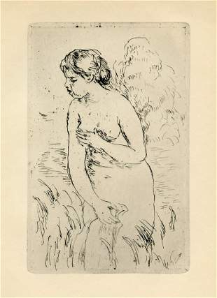 "Pierre-Auguste Renoir ""Baigneuse Debout, a mi-jambes"""