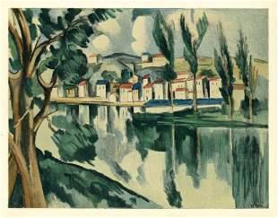 "Maurice de Vlaminck lithograph ""The Seine at Chatou"""