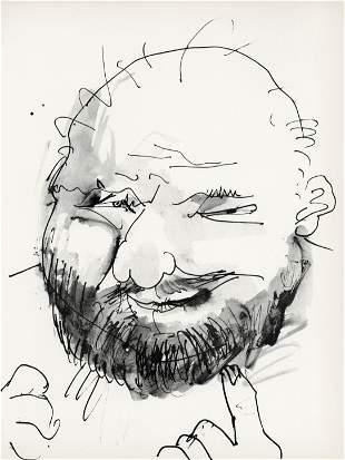 """Pablo Picasso lithograph """"Chauve, barbu et hilare"""""""