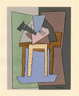 Pablo Picasso Cubist pochoir for Cahiers d