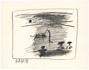 """Pablo Picasso """"Les Banderilles"""" original lithograph"""