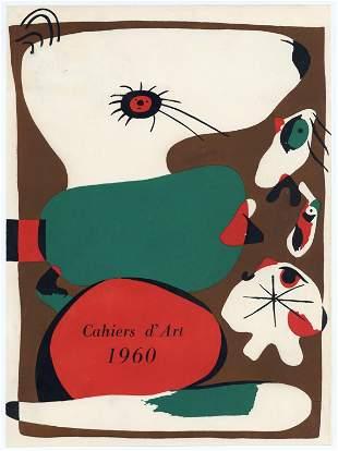 Joan Miro original pochoir for Cahiers d'Art 1960