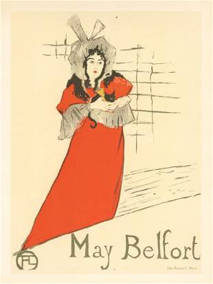 """Toulouse-Lautrec lithograph poster """"May Belfort"""""""