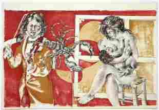Hans Erni original lithograph for Dames des Decans,