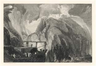 """J. M. W. Turner """"Tintagel Castle"""" engraving"""