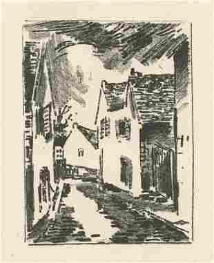 Maurice de Vlaminck original lithograph, 1921