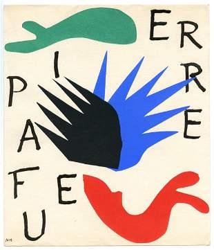 Henri Matisse pochoir for Pierre a feu, Les miroirs