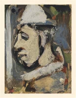 "Georges Rouault pochoir ""Eusebe"" for Visages"