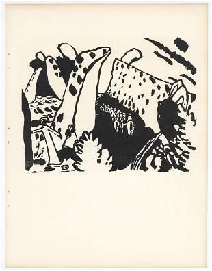 """Wassily Kandinsky """"Reiterweg"""" original woodcut"""