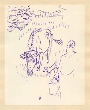 Pierre Bonnard lithograph for Correspondances, 1944