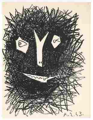 """Pablo Picasso """"Satyr II"""" original lithograph"""