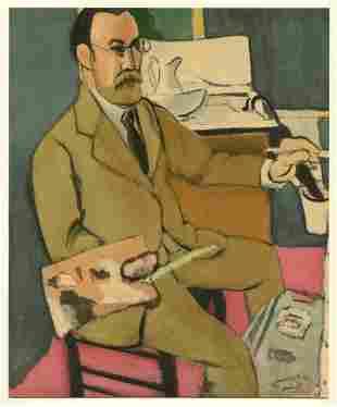 "Henri Matisse lithograph ""Self Portrait"""