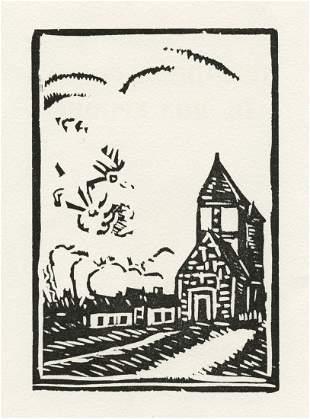Maurice de Vlaminck original woodcut, 1927