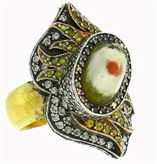 Sevan Bicakci Silver Yellow Gold RING with Diamond and