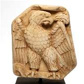 Roman Marble Relief, Eagle Holding Olive Branch, c. 2nd