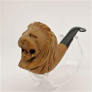 Lion,Hand carved Meerschaum Pipe.