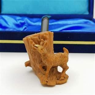 Deer,Hand carved Meerschaum Pipe