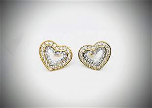 Gold Plated 925 SS Cubic Zirconia Earrings