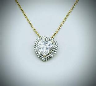 Gold Plated Cubic Zirconia & Diamond Necklace