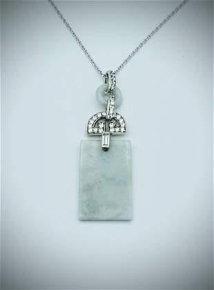 Sterling Silver Triple Drop Jade & Cubic Zirconia
