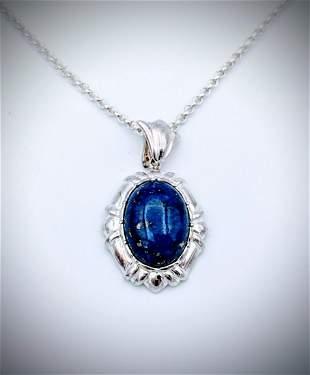 Sterling Silver w Lapis Lazuli Pendant