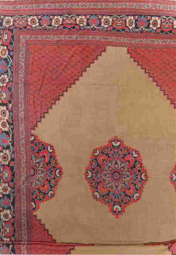 Pre-1900 Antique Dorokhsh Persian Rug Wool 19x24