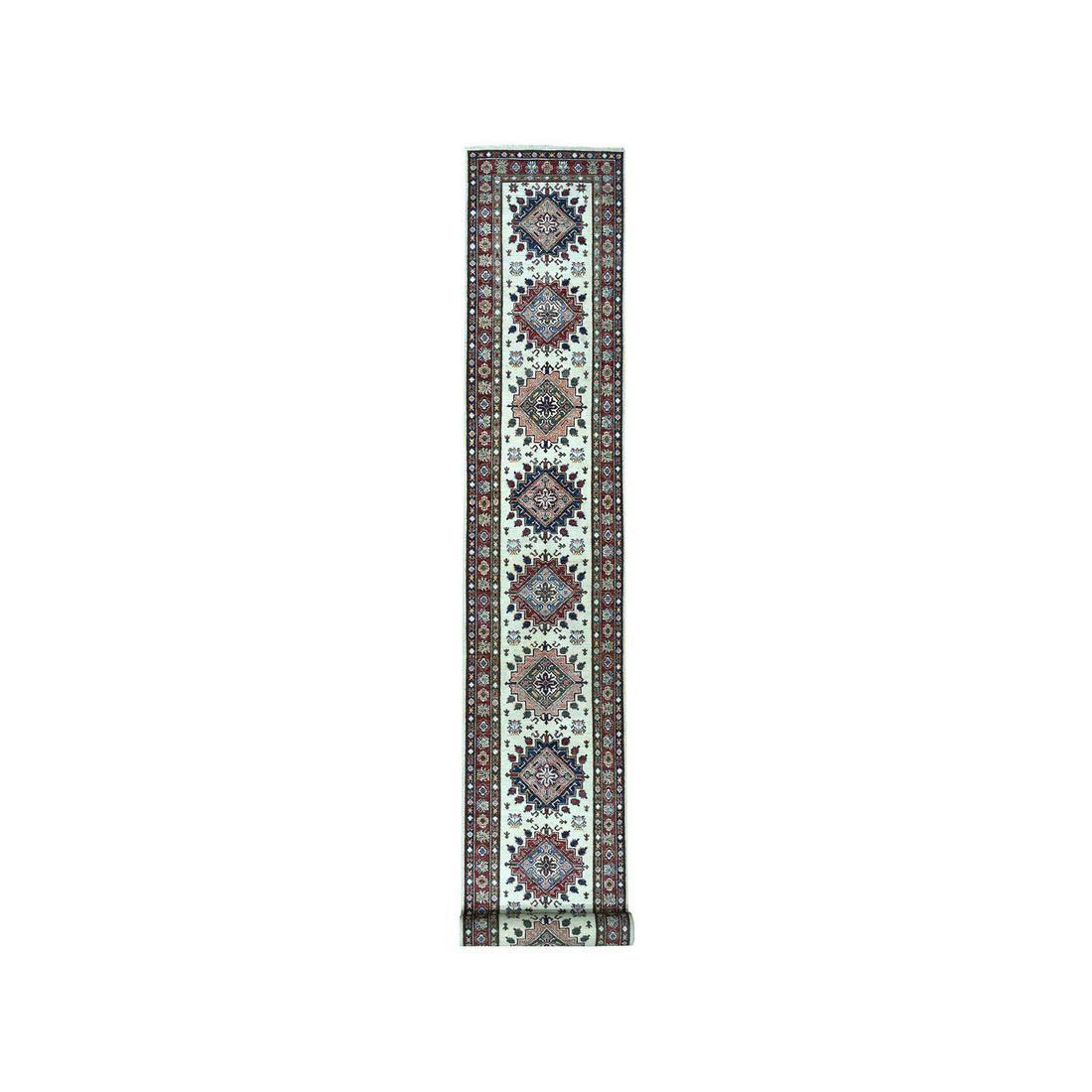 Super Kazak Geometric Design XL Runner Pure Wool