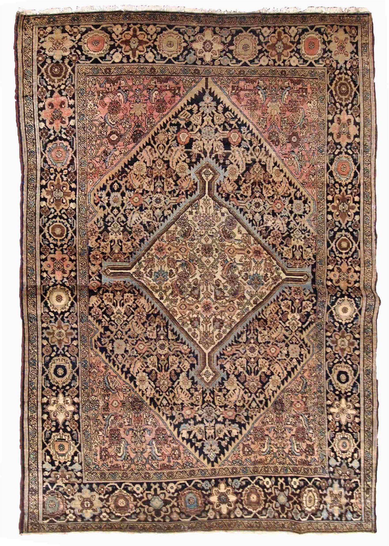Handmade antique Persian Sarouk Farahan rug 3.4