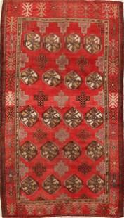 Geometric Balouch Persian Area Rug 4x7