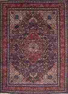 Vintage 9x12 Tabriz Persian Area Rug