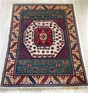 Handmade Modern Caucasian Kazak Karachov rug 3.3