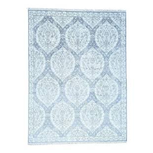 Handmade Genuine Cotton Agra Moughal Design Ivory