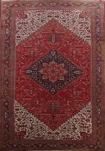 Vintage 100% Vegetable Dye Heriz Persian Rug 13x23