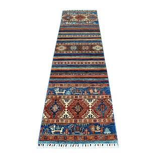 Khorjin Design Colorful Runner Super Kazak Pure Wool