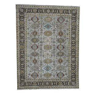 Karajeh Design Pure Wool Hand-Knotted Oriental Rug