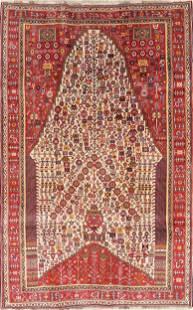 Tribal Geometric Kashkoli Persian Wool Area Rug 5x8