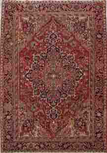 Vintage Vegetable Dye Heriz Serapi Persian Rug