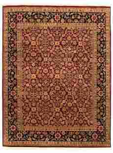 "Hand-knotted Glory Burgundy Wool Rug 7'11"" x 10'4"""