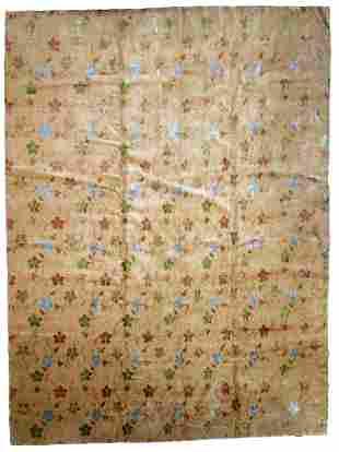 Handmade vintage Tibetan Modern rug with silk 9.1' x