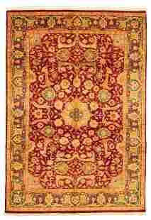 "Hand-knotted Pako Persian 18/20 Dark Red Wool Rug 6'1"""