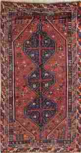 Antique Tribal Lori Persian Hand-Knotted 4x7 Wool Area