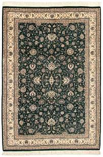 Hand-knotted Pako Persian 18/20 Dark Green Wool Rug