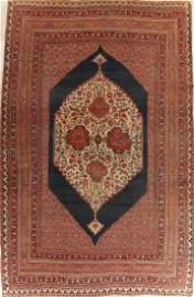 Pre-1900 Antique Bidjar Halvaei Persian Large Rug 12x18