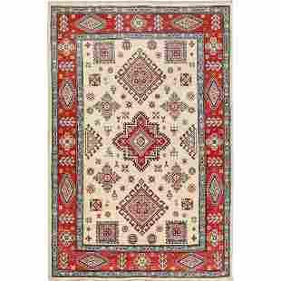 Ivory Special kazak Tribal Design Pure wool Hand