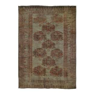 Washed Out Afghan Baluch Pure Wool Hand Knotted
