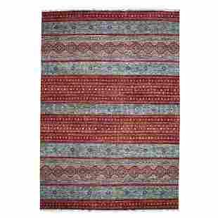 Khorjin Design Red Super Kazak Pure Wool Hand Knotted