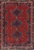 Antique Tribal Qashqai Persian Hand-Knotted 7x10 Wool